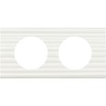 069012 - Рамка 2-постовая Legrand Celiane, прямоугольная, 171х83мм, Corian® (белый рельеф)