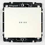 771034 + 775820 - Переключатель одноклавишный, на 2 направления с индикацией Legrand Galea Life, 10А (белый)