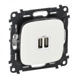 754995 - Розетка USB, зарядное устройство Legrand Valena Allure (белая)