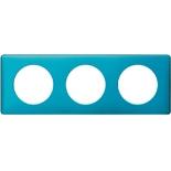 068773 - Рамка 3-постовая Legrand Celiane, прямоугольная, 232х82мм (лазурный пунктум)