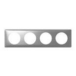 068924 - Рамка 4-постовая Legrand Celiane, 303×82мм (алюминий)