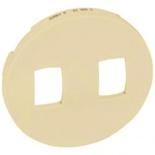 066205 - Лицевая панель для двойного рычажкового выключателя, Легран Селиан (слоновая кость)