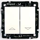774414 - Переключатель с электрической блокировкой для управления жалюзи Legrand Valena (белая)