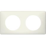 066702 - Рамка 2-постовая Legrand Celiane, прямоугольная, 161х82мм (белая перкаль)