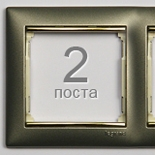 770362 - Рамка 2 поста Legrand Valena (Титан/Золото)