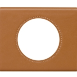 069421 - Рамка однопостовая Legrand Celiane, прямоугольная, 100х83мм, кожа (карамель)