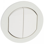 067802 - Лицевая панель выключателя двухклавишного, влагозащищенная (ip44), Legrand Celiane (белая)