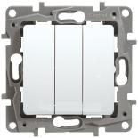 672213 - Выключатель трехклавишный Legrand Etika Plus (белый)