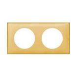 068672 - Рамка 2-постовая Legrand Celiane, 161×82мм, пластик (шафран)