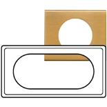 069135 - Рамка Legrand Celiane, 4/5М, прямоугольная, 171х83мм, металл (золото)