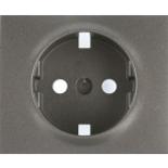 771220 - Лицевая панель для электрической розетки Legrand Galea Life с заземлением, немецкий стандарт, тёмная бронза
