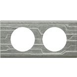 069042 - Рамка 2-постовая Legrand Celiane, прямоугольная, 171х83мм, металл (техно)