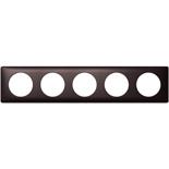 068980 - Рамка 5-постовая Legrand Celiane, прямоугольная, 374х82мм (карбон)