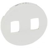 068019 - Лицевая панель для двойного рычажкового выключателя, Legrand Celiane (белый)