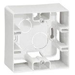672510 - Коробка накладного монтажа Legrand Etika, однопостовая (белый)