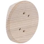 RK1-200 - Накладка на бревно Ø200мм, для распределительной коробки/светильника с диаметром основания до 90мм, круглая (ясень)