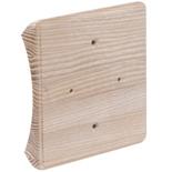 SV2-180 - Накладка на бревно Ø180мм, для распределительной коробки/светильника с размером основания до 120х120мм, квадратная (ясень)