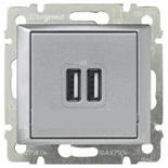 770270 - Розетка USB двойная, Легран Валена (Алюминий)