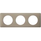 066723 - Рамка 3-постовая Legrand Celiane, прямоугольная, 232х82мм (грэй перкаль)