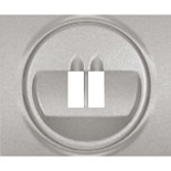 771300 - Лицевая панель для простой акустической розетки Legrand Galea Life, алюминий