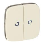 755226 - Лицевая панель для двухклавишного выключателя с подсветкой Legrand Valena Allure (слоновая кость)