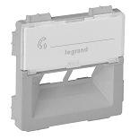 755382 - Лицевая панель для двойной информационной розетки RJ 45 Rutenbeck Legrand Valena Life (алюминий)