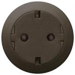 067168 - Механизм розетки электрической с заземлением (2К+З), плоской, с лицевой панелью, безвинтовые зажимы, Legrand Celiane (графит)