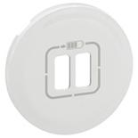 068256 - Лицевая панель для двойной зарядки USB, Legrand Celiane (белая)