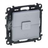 752030 + 755142 - Кнопочный выключатель для управления жалюзи/рольставнями Легранд Валена Лайф (алюминий)