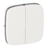 755025 - Лицевая панель для двухклавишного выключателя Legrand Valena Allure (белая)