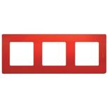 672533 - Рамка 3-х постовая Legrand Etika (красная)