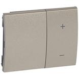 771486 - Лицевая панель для клавишных светорегуляторов (диммеров) Legrand Galea Life, титан