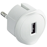 050680 - Компактное зарядное устройство USB, 1.5А, 5В, питание - 220В, Legrand, белое