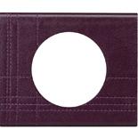 069441 - Рамка однопостовая Legrand Celiane, прямоугольная, 100х83мм, кожа (пурпур)