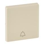 755011 - Лицевая панель для кнопочного выключателя, с символом «звонок» Легранд Валена Лайф (слоновая кость)