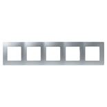 672555 - Рамка 5-ти постовая Legrand Etika (алюминий)