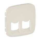 755426 - Лицевая панель для двойных телефонных/информационных розеток Legrand Valena Allure (слоновая кость)