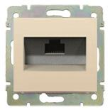 774146 - Розетка одинарная Ethernet Rj45 с захватами, 6 UTP, Легранд Валена (слоновая кость)