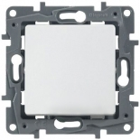 672201 - Выключатель одноклавишный, на винтах Legrand Etika (белый)