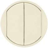 066201 - Лицевая панель для двойного выключателя, Легран Селян (слоновая кость)