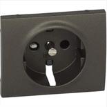 771221 - Лицевая панель для электрической розетки Legrand Galea Life с заземлением, с защитными шторками, немецкий стандарт, тёмная бронза