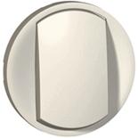 065004 - Лицевая панель 1-клавишного выключателя/переключателя с кольцевой подсветкой, Legrand Celiane (белая)