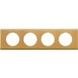 069134 - Рамка 4-постовая Legrand Celiane, прямоугольная, 313х83мм, металл (золото)