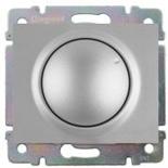771368 + 775654 - Светорегулятор (диммер) поворотный, 400 Вт, Legrand Galea Life (алюминий)