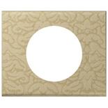 069411 - Рамка однопостовая Legrand Celiane, прямоугольная, 100х82мм, текстиль (орнамент)