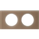 069462 - Рамка 2-постовая Legrand Celiane, прямоугольная, 172х84мм, стекло (смальта мокка)