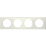 066704 - Рамка 4-постовая Legrand Celiane, прямоугольная, 303х82мм (белая перкаль)