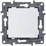 672214 - Выключатель (кнопка) без фиксации Legrand Etika Plus (белый)