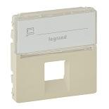 755471 - Лицевая панель для одиночных телефонных/информационных розеток с держателем маркировки Legrand Valena Life (слоновая кость)
