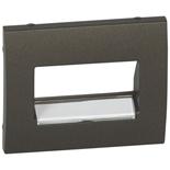 771275 - Лицевая панель Legrand Galea Life для телефонной/информационной розетки (RJ11/RJ45), на 1 или 2 разъёма, с держателем этикеток, тёмная бронза